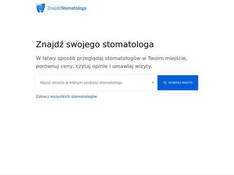 Znajdzstomatologa.pl wyszukiwarka dentystów