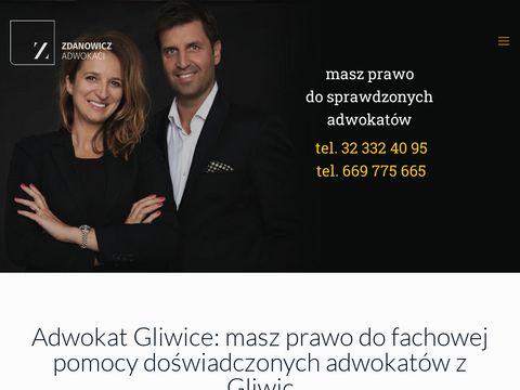 Zdanowiczadwokaci.pl Gliwice