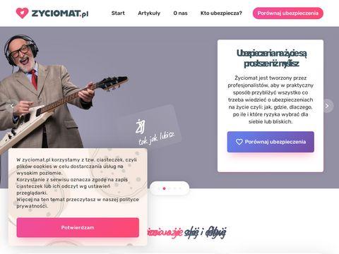 Zyciomat.pl ubezpieczenie polisa na życie