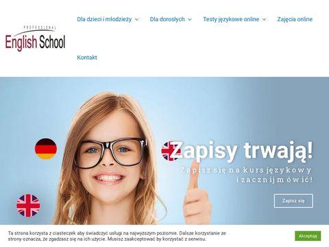 Professional English School kursy angielskiego