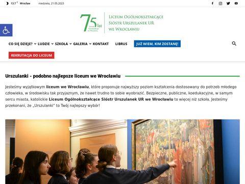 Urszulanki.edu.pl liceum we Wrocławiu
