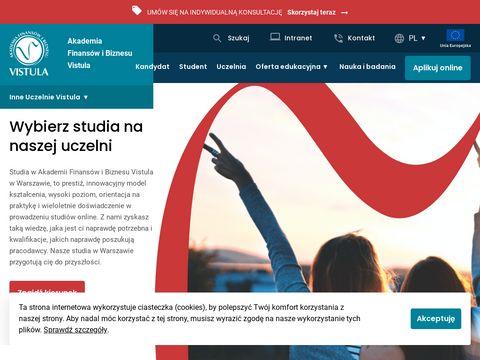 Vistula.edu.pl uczelnie Warszawa