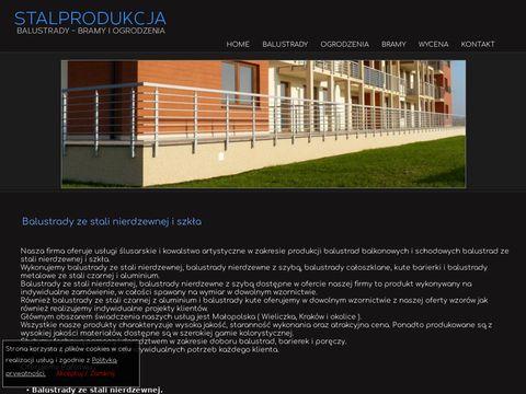 Stalprodukcja.pl balustrady nierdzewne