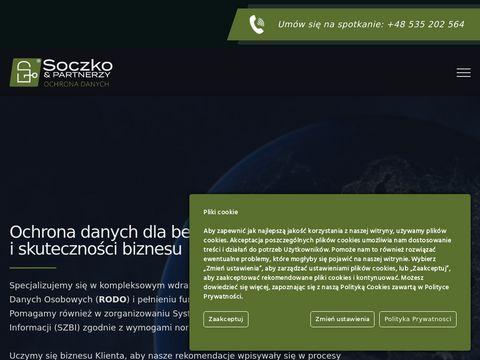 Soczko.pl ochrona danych