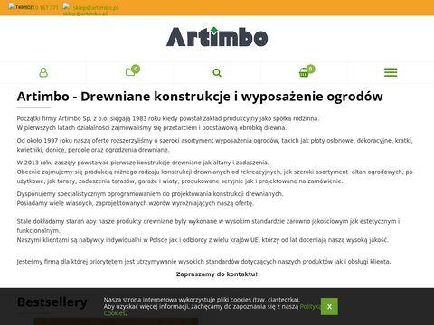 Artimbo.pl drewniane wyposażenie ogrodów
