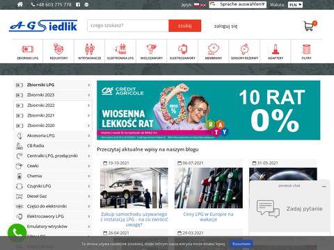 Agsiedlik.pl specjalistyczny sklep części do LPG CNG