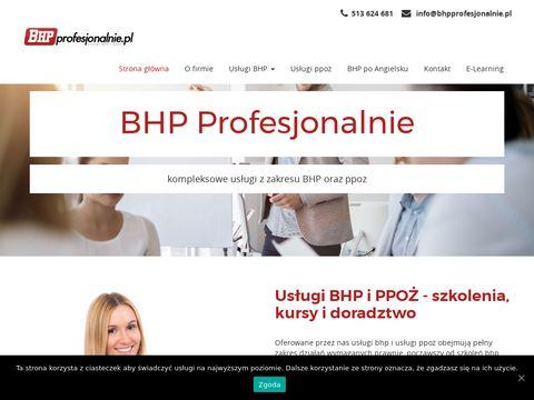 Bhpprofesjonalnie.pl usługi w Warszawie i okolicach