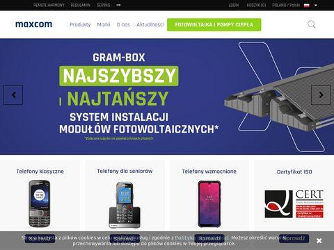 Maxcom.pl telefony dla seniorów i nie tylko
