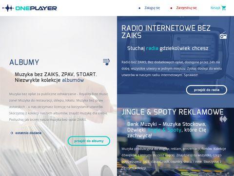 Oneplayer.pl muzyka bez opłat za publiczne odtwarzanie