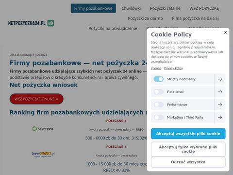 Netpozyczka24.pl - chwilówki