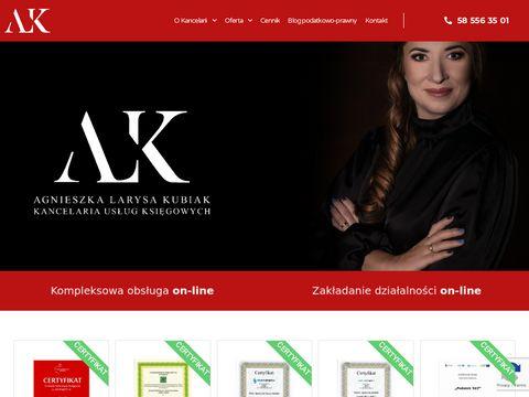 Kancelaria-kubiak.pl kięgowość dla spółki z o.o. Gdańsk