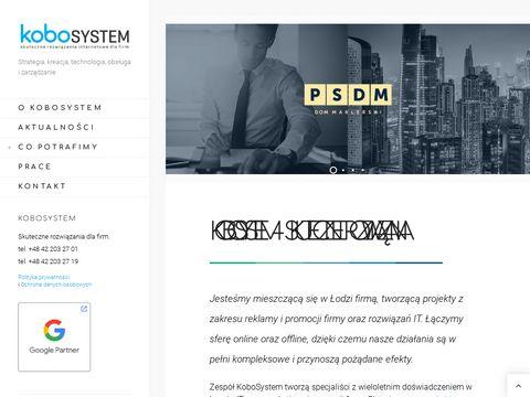 Kobosystem.pl nowoczesne strony internetowe