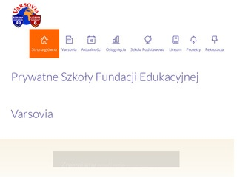 Varsovia.edu.pl prywatna szkoła podstawowa fundacji