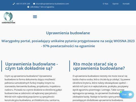 Uprawnienia-budowlane.com 2021 testy
