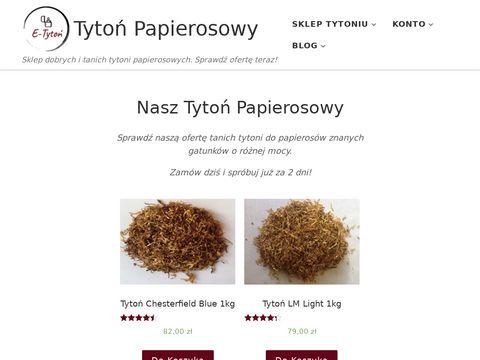 Tytonpapierosowy.pl - sklep hurtowy z tytoniem