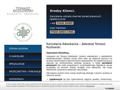 Kozlowski-adwokat.pl kancelaria prawna Kraków