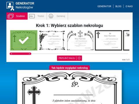 Nekrologwzor.pl generator