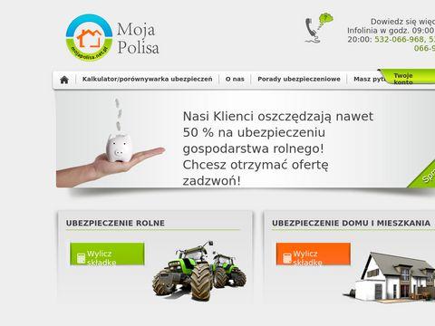 Mojapolisa.net.pl porównywarka ubezpieczeń