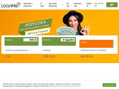 Loanme.pl szybka pożyczka