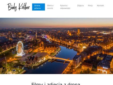 Bialykoliber.pl zdjęcia nieruchomości z drona