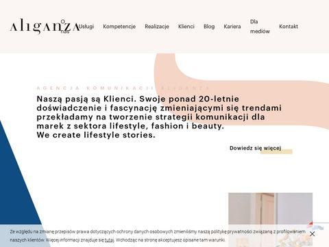 Aliganza.pl fashion PR agencja komunikacja w modzie