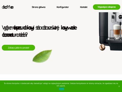 Allcoffee.pl dzierżawa ekspresów do kawy