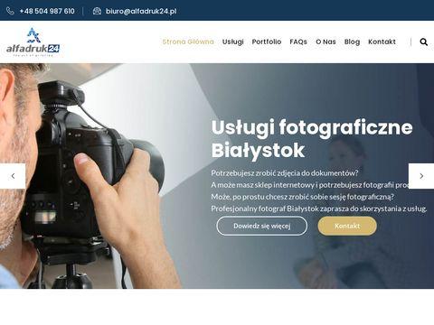 Alfadruk24.pl ulotki Białystok