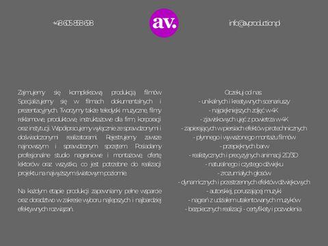 Avproduction.pl postprodukcja filmów