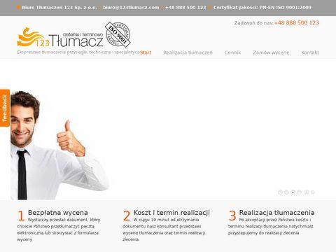 123tlumacz.pl Tłumaczenia stron internetowych
