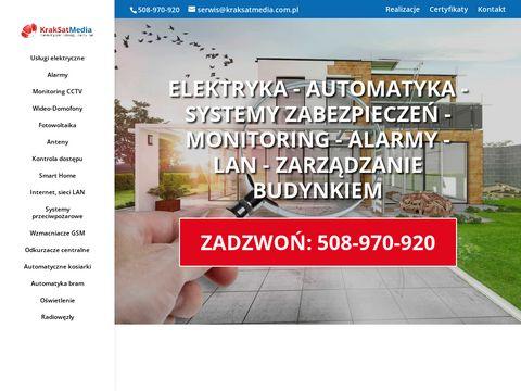 KrakSatMedia - systemy alarmowe Kraków