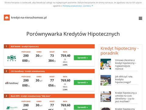 Kredyt-na-nieruchomosc.pl - na budowę domu