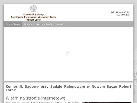 Komorniknowysacz.pl kancelaria