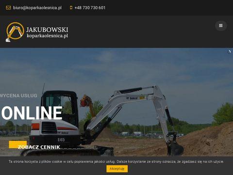 Koparkaolesnica.pl usługi minikoparką