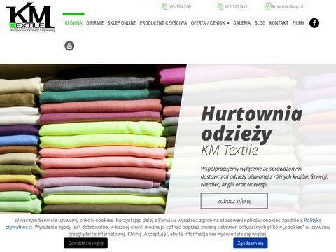 Kmtextile.pl hurtownia odzieży markowej