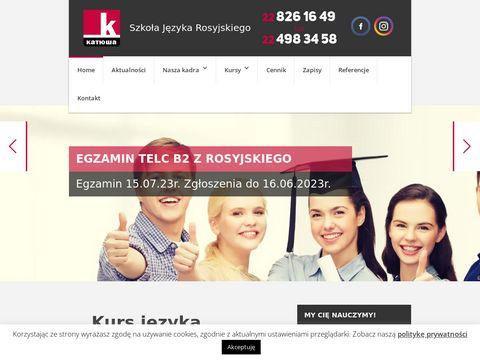 Katiusza.edu.pl kurs języka rosyjskiego Warszawa