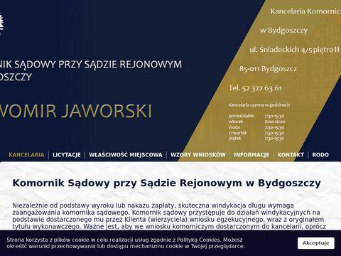 Sławomir Jaworski windykacje komornicze Bydgoszcz