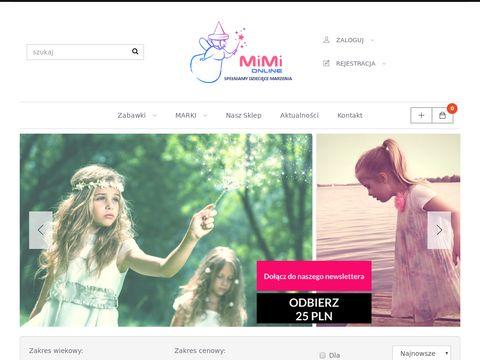 Sklep internetowy z zabawkami - Mimi