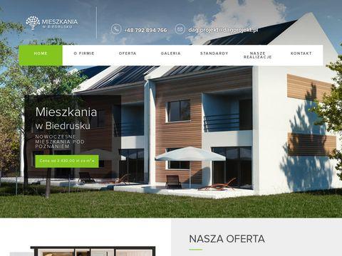 D.A.G. Projekt nowe mieszkania w Biedrusku