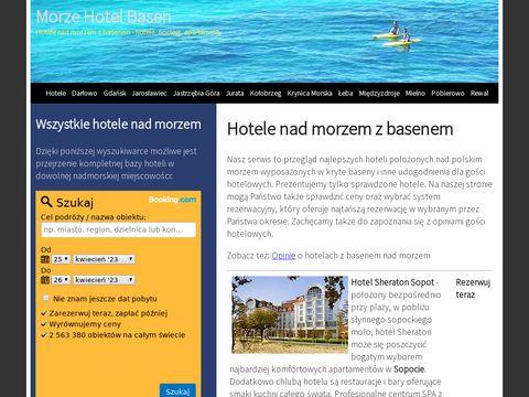Morze-hotel-basen.pl hotele nad morzem z basenami