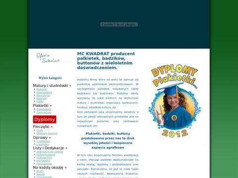 Mckwadrat.com.pl przypinki reklamowe