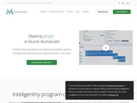 Mantreo.com program dla biura tłumaczeń