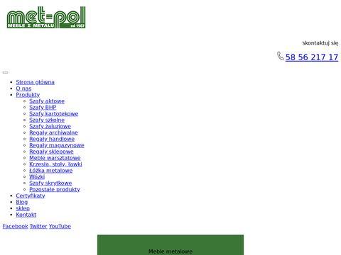 Met-Pol metalowe szafki szkolne