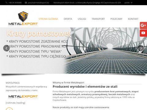 Metalexport kraty pomostowe Częstochowa