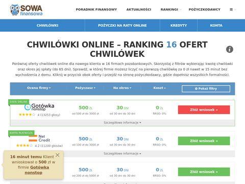 Lowcachwilowek.pl ranking