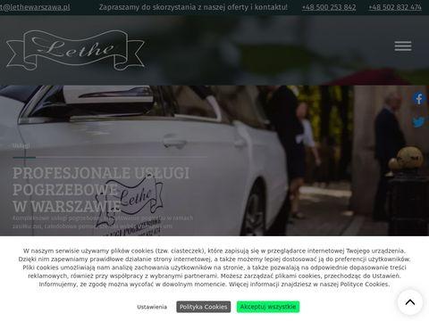 Lethewarszawa.pl usługi pogrzebowe