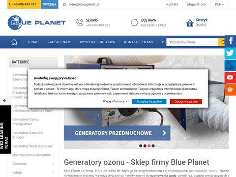 Blue Planet ozonowanie owoców