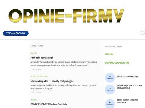 Opinie-firmy.pl portal z opiniami o firmach