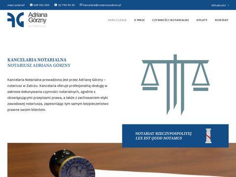 Notariuszzabrze.pl czynności notarialne