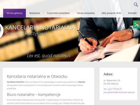 Sławomir Puczyłowski kancelaria notarialna Otwock
