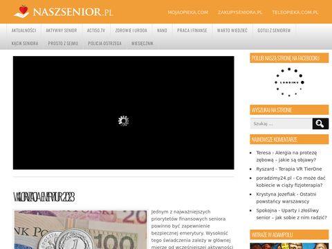 Naszsenior.pl opiekun osób starszych